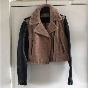 e6942ae9e8f4 ... Shearling leather jacket ...
